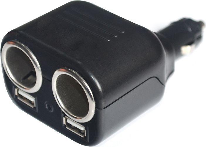 Разветвитель прикуривателя DolleX, на 2 гнезда + 2 USB, 1000 mAВетерок 2ГФРазветвитель прикуривателя на 2разъёма 12В + 2 разъема USB и световой индикатор для удобства использования. Разъемы 12В: Рабочее напряжение 12В Максимальный ток 10А Суммарная мощность потребителей 120 Вт. Разъем USB: Напряжение на выходе 5В Максимальный ток 1А. Предназначены для подключения портативных CD/DVD проигрывателей, iPhone, смартфонов, мобильных телефонов, видеорегистраторов и других потребителей небольшой мощности.