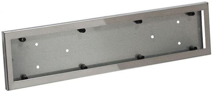 Рамка номерного знака DolleX, с адаптером, цвет: серый. SPL-29SPL-29Рамка номерного знака DolleX изготовлена из нержавеющей стали с прочным полимерным покрытием. Рамка имеет универсальное крепление под различные способы крепления к автомобилю.Адаптер из оцинкованной стали с виброизоляторами в комплекте.Температура эксплуатации: -50°C, +50°C.Размеры (Д х Ш х В): 53 x 13 x 2 см.