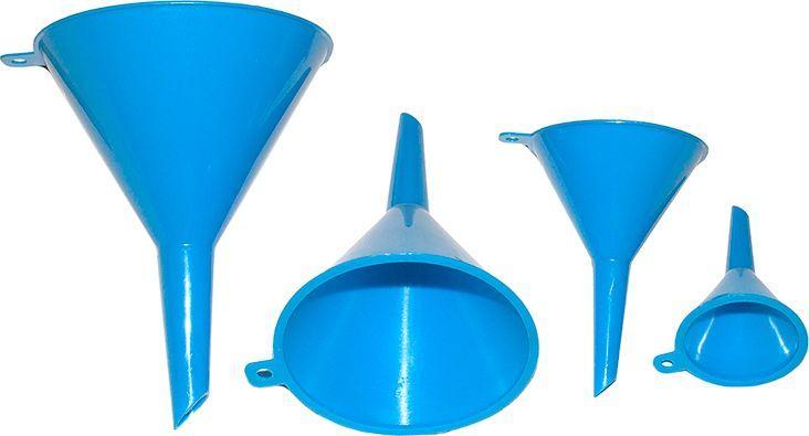Набор воронок DolleX, 50 мм, 75 мм, 95 мм, 115 мм, 4 штAB-I-04Воронки для технических жидкостей.Комплект 4 шт.В комплект входят воронки диаметром:- D=50 мм.;- D=75 мм.;- D=95 мм.;- D=115 мм.Цвет: синий