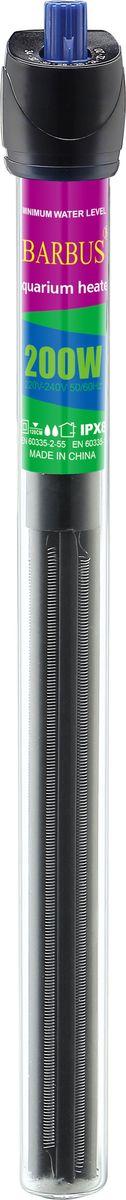 Обогреватель для аквариума Barbus Профессиональный, с терморегулятором, 200 Вт, длина шнура 200 см0120710Обогреватель терморегулятор Профессиональный, кварц (200 Ватт; 200 см электрошнур)