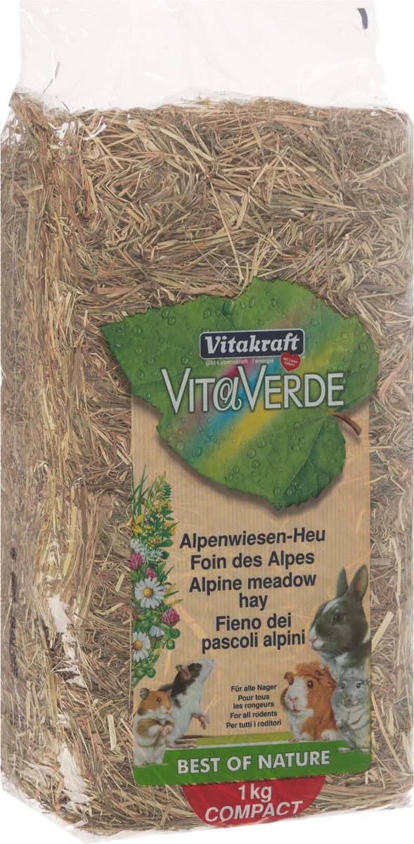 Сено луговое Vitakraft Vita Verde, альпийское, 1 кгCS709Сено луговое Vitakraft Vita Verde, альпийское, из тщательно отобранных луговых трав богат витаминами, минералами, микроэлементами и клетчаткой. Способствует пищеварению и стачиванию зубов. Экологически чистый продукт. Прессованный брикет.Состав: сено.Вес: 1 кг.Товар сертифицирован.