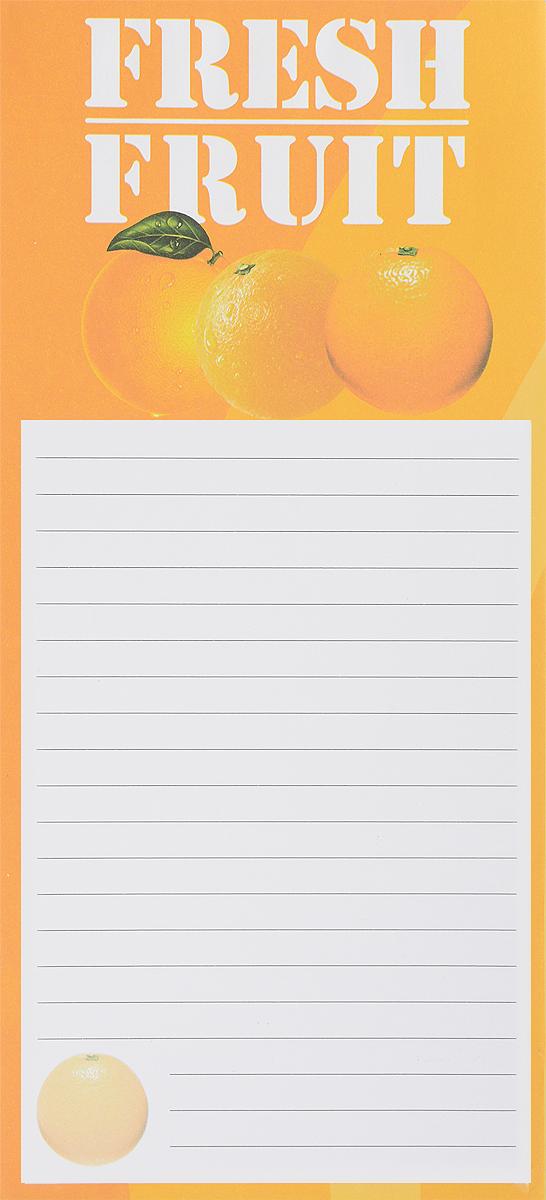 Albion Блок для записей Back to School Апельсин на магните 50 листов