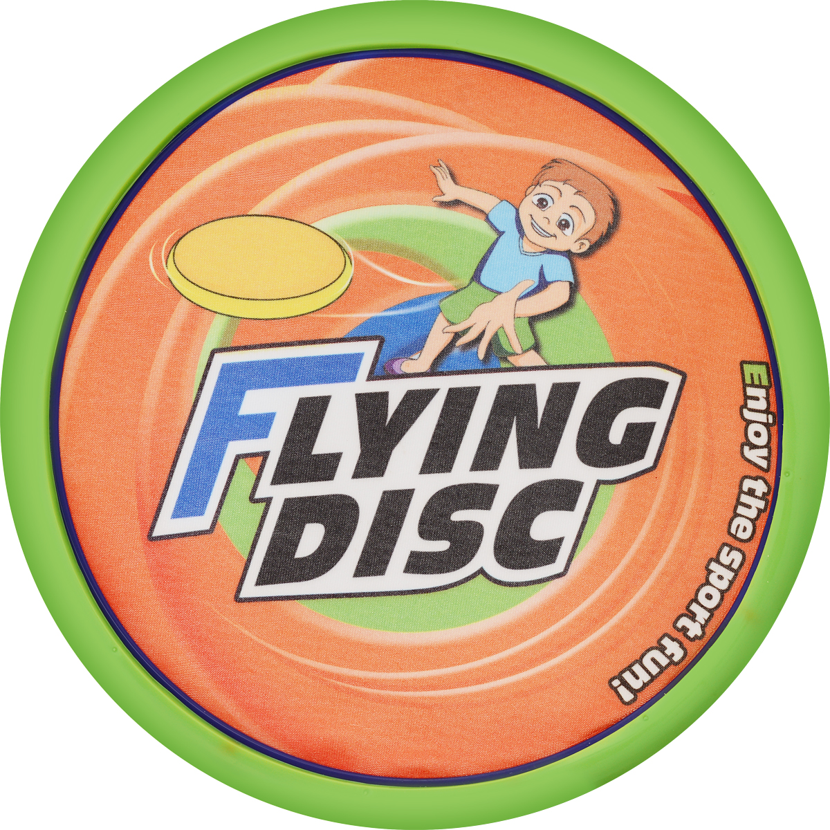 YG Sport Летающая тарелка цвет салатовый оранжевый диаметр 20 см