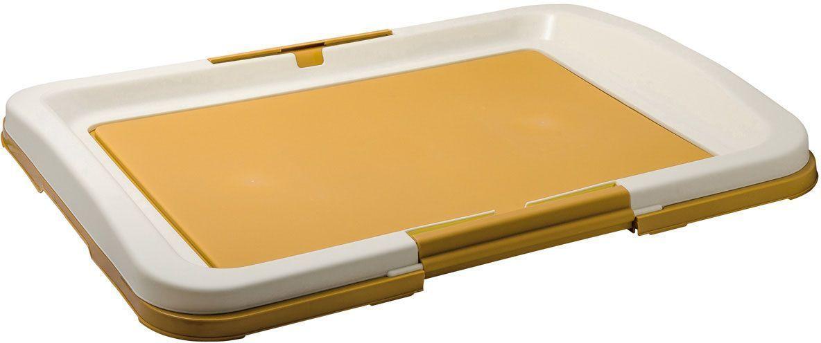 Туалет V.I.Pet Японский стиль, для собак, 63 х 49 х 6 см, цвет: бежевый0120710Туалет предназначен для собак и щенков. Гигиеническая пеленка помещается под рамку, удерживаемую боковыми фиксаторами. Туалет легко моется водой.