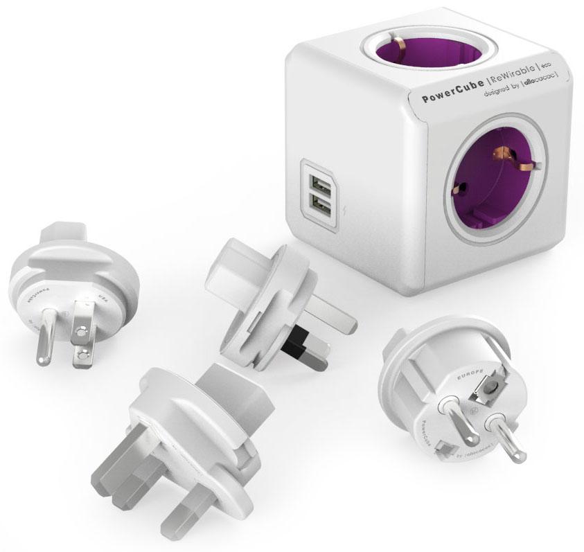 Allocacoc PowerCube ReWirable USB, White сетевой разветвитель694634Для использования как в поездке так и дома. Универсальный разьем для вилок. PowerCube снабжен используемым во всем мире разьемом IEC (ограниченным до 10A). Вы можете использовать IEC кабель от старой техники, таким образом превращая его в удлинитель.