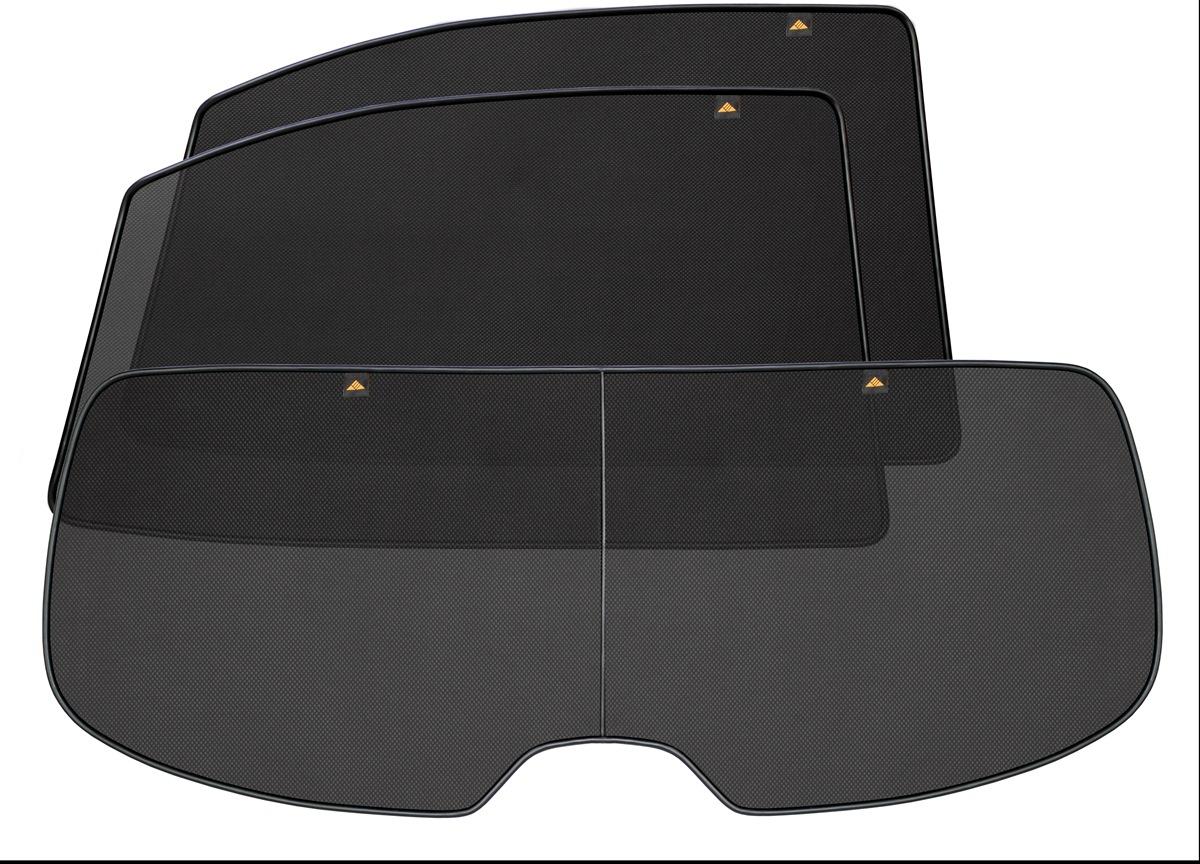 Набор автомобильных экранов Trokot для Toyota Tundra 2 Рестайлинг (2013-наст.время), двойная кабина, на заднюю полусферу, 3 предметаВетерок 2ГФКаркасные автошторки точно повторяют геометрию окна автомобиля и защищают от попадания пыли и насекомых в салон при движении или стоянке с опущенными стеклами, скрывают салон автомобиля от посторонних взглядов, а так же защищают его от перегрева и выгорания в жаркую погоду, в свою очередь снижается необходимость постоянного использования кондиционера, что снижает расход топлива. Конструкция из прочного стального каркаса с прорезиненным покрытием и плотно натянутой сеткой (полиэстер), которые изготавливаются индивидуально под ваш автомобиль. Крепятся на специальных магнитах и снимаются/устанавливаются за 1 секунду. Автошторки не выгорают на солнце и не подвержены деформации при сильных перепадах температуры. Гарантия на продукцию составляет 3 года!!!