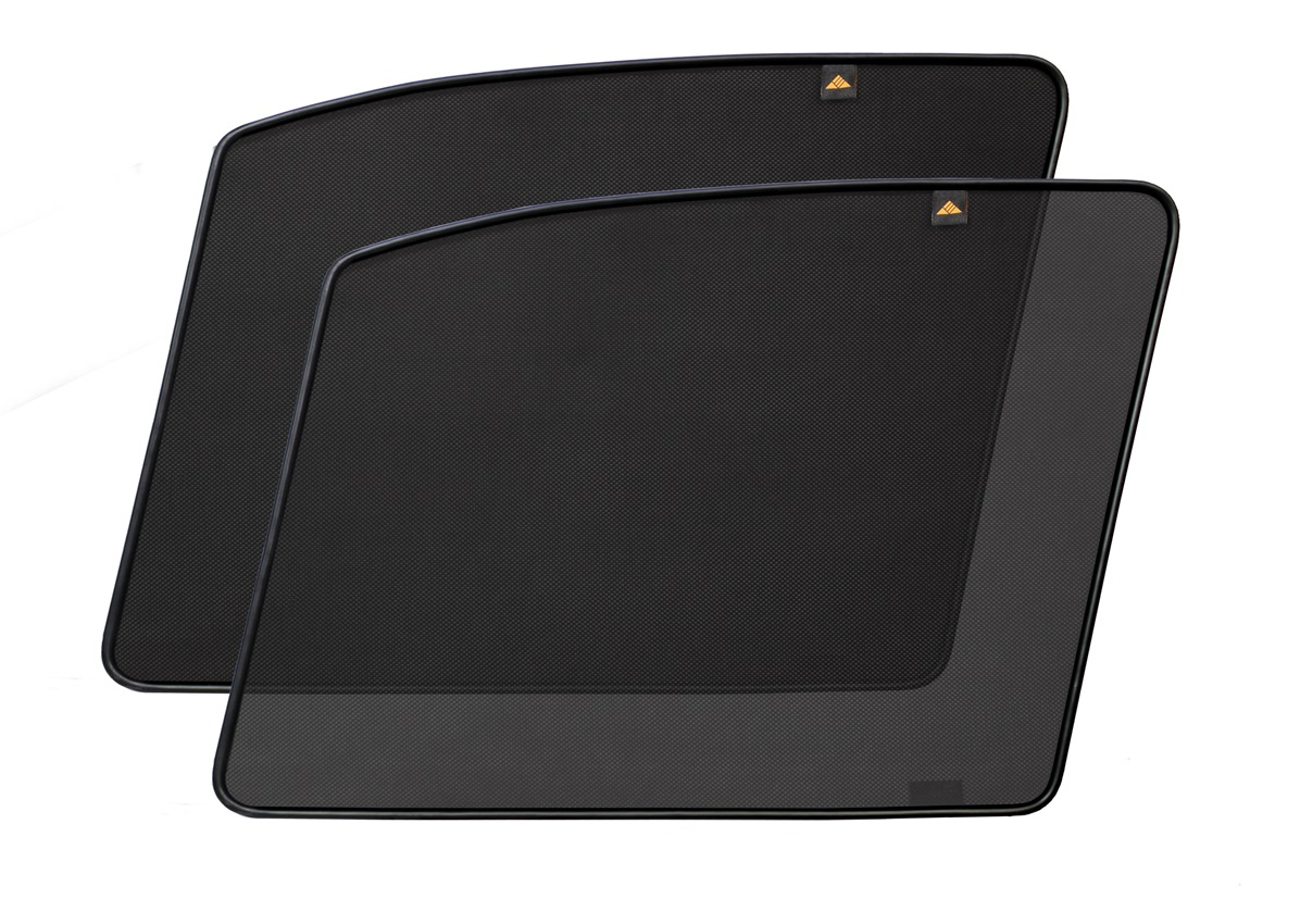 Набор автомобильных экранов Trokot для Nissan Almera (N16) (2000-2006), на передние двери, укороченныеВетерок 2ГФКаркасные автошторки точно повторяют геометрию окна автомобиля и защищают от попадания пыли и насекомых в салон при движении или стоянке с опущенными стеклами, скрывают салон автомобиля от посторонних взглядов, а так же защищают его от перегрева и выгорания в жаркую погоду, в свою очередь снижается необходимость постоянного использования кондиционера, что снижает расход топлива. Конструкция из прочного стального каркаса с прорезиненным покрытием и плотно натянутой сеткой (полиэстер), которые изготавливаются индивидуально под ваш автомобиль. Крепятся на специальных магнитах и снимаются/устанавливаются за 1 секунду. Автошторки не выгорают на солнце и не подвержены деформации при сильных перепадах температуры. Гарантия на продукцию составляет 3 года!!!