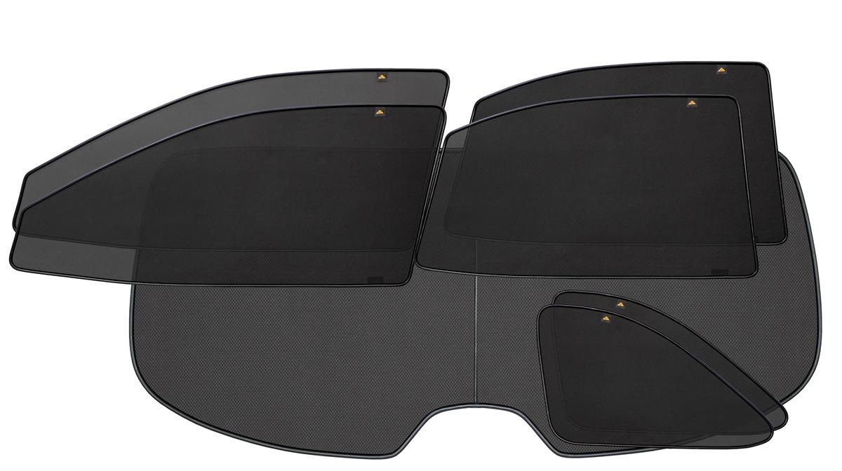 Набор автомобильных экранов Trokot для VW Caravelle T5, (2003-2015), с двумя задними дверьми, 7 предметовNLC.46.05.210Каркасные автошторки точно повторяют геометрию окна автомобиля и защищают от попадания пыли и насекомых в салон при движении или стоянке с опущенными стеклами, скрывают салон автомобиля от посторонних взглядов, а так же защищают его от перегрева и выгорания в жаркую погоду, в свою очередь снижается необходимость постоянного использования кондиционера, что снижает расход топлива. Конструкция из прочного стального каркаса с прорезиненным покрытием и плотно натянутой сеткой (полиэстер), которые изготавливаются индивидуально под ваш автомобиль. Крепятся на специальных магнитах и снимаются/устанавливаются за 1 секунду. Автошторки не выгорают на солнце и не подвержены деформации при сильных перепадах температуры. Гарантия на продукцию составляет 3 года!!!