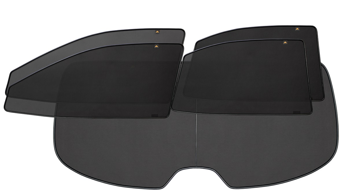 Набор автомобильных экранов Trokot для ГАЗ 3102, 3110, 31105 - ВОЛГА (2003-2009), 5 предметов668437Каркасные автошторки точно повторяют геометрию окна автомобиля и защищают от попадания пыли и насекомых в салон при движении или стоянке с опущенными стеклами, скрывают салон автомобиля от посторонних взглядов, а так же защищают его от перегрева и выгорания в жаркую погоду, в свою очередь снижается необходимость постоянного использования кондиционера, что снижает расход топлива. Конструкция из прочного стального каркаса с прорезиненным покрытием и плотно натянутой сеткой (полиэстер), которые изготавливаются индивидуально под ваш автомобиль. Крепятся на специальных магнитах и снимаются/устанавливаются за 1 секунду. Автошторки не выгорают на солнце и не подвержены деформации при сильных перепадах температуры. Гарантия на продукцию составляет 3 года!!!