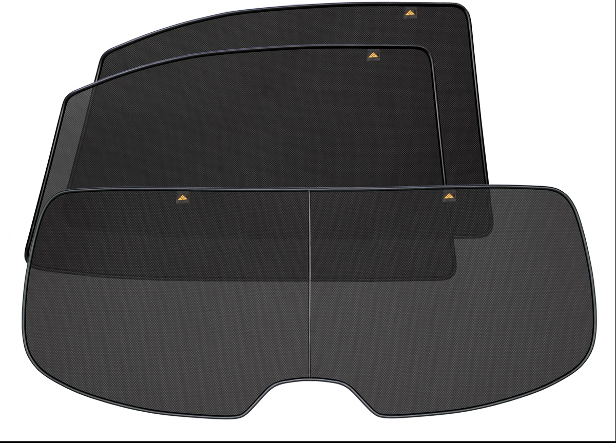 Набор автомобильных экранов Trokot для BMW 5 E60 (2003-2010), на заднюю полусферу, 3 предметаTR0022-01Каркасные автошторки точно повторяют геометрию окна автомобиля и защищают от попадания пыли и насекомых в салон при движении или стоянке с опущенными стеклами, скрывают салон автомобиля от посторонних взглядов, а так же защищают его от перегрева и выгорания в жаркую погоду, в свою очередь снижается необходимость постоянного использования кондиционера, что снижает расход топлива. Конструкция из прочного стального каркаса с прорезиненным покрытием и плотно натянутой сеткой (полиэстер), которые изготавливаются индивидуально под ваш автомобиль. Крепятся на специальных магнитах и снимаются/устанавливаются за 1 секунду. Автошторки не выгорают на солнце и не подвержены деформации при сильных перепадах температуры. Гарантия на продукцию составляет 3 года!!!