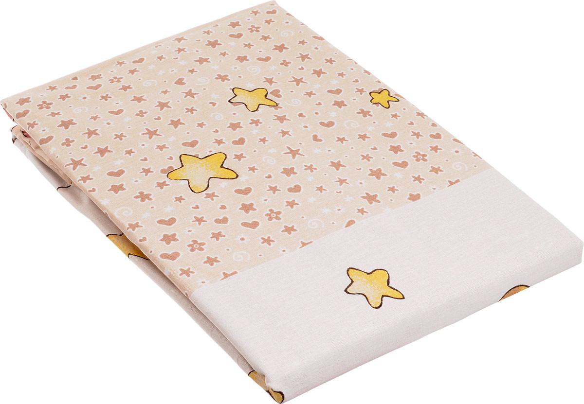Топотушки Комплект детского постельного белья Детский Мир цвет бежевый 3 предмета