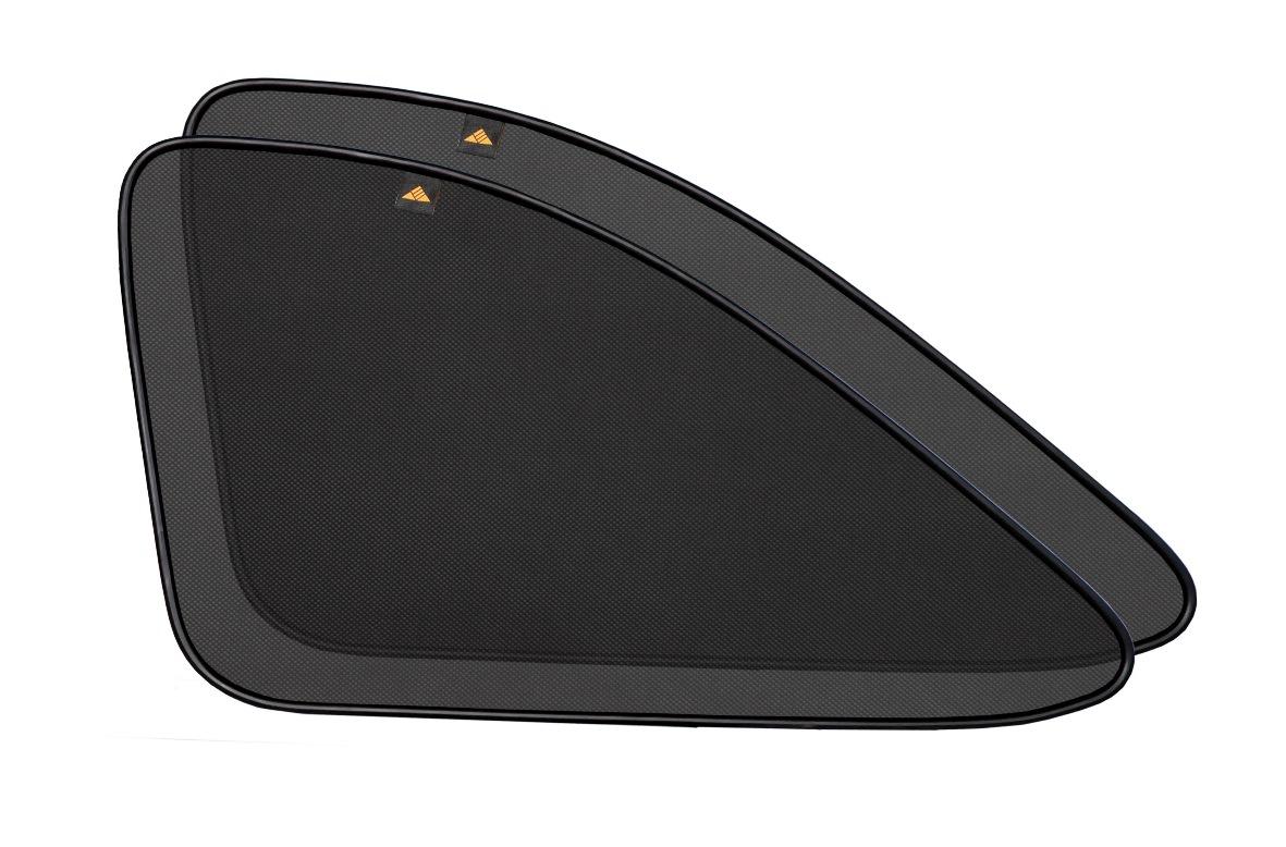 Набор автомобильных экранов Trokot для Hyundai Tucson 1 (2004-2009), на задние форточкиTR0959-01Каркасные автошторки точно повторяют геометрию окна автомобиля и защищают от попадания пыли и насекомых в салон при движении или стоянке с опущенными стеклами, скрывают салон автомобиля от посторонних взглядов, а так же защищают его от перегрева и выгорания в жаркую погоду, в свою очередь снижается необходимость постоянного использования кондиционера, что снижает расход топлива. Конструкция из прочного стального каркаса с прорезиненным покрытием и плотно натянутой сеткой (полиэстер), которые изготавливаются индивидуально под ваш автомобиль. Крепятся на специальных магнитах и снимаются/устанавливаются за 1 секунду. Автошторки не выгорают на солнце и не подвержены деформации при сильных перепадах температуры. Гарантия на продукцию составляет 3 года!!!