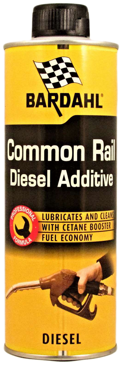 Добавка-очиститель Bardahl Common Rail Diesel Additive, в дизельное топливо, 500 мл121137Bardahl Common Rail Diesel Additive эффективно воздействует на различные компоненты системы впрыска и цилиндропоршневой группы:Смазывает верхнюю часть цилиндров и поршневых колец, компенсируя малое содержание серы в современном дизельном топливе. Снижает нагарообразование на выпускных клапанах, предохраняет седло клапана от преждевременного износа. Увеличивает цетановое число, устраняет детонацию и самовоспламенение, облегчает воспламенение топливной смеси, способствует более мягкой работе двигателя, уменьшению шумности его работы. Повышает производительность, мощность и приемистость двигателя. Связывает и выводит воду из топлива, тем самым предотвращает заедание и заклинивание форсунок и топливного насоса. Снижает предельную температуру фильтруемости дизельного топлива на 7°С (тест IFP № 74709), температуру помутнения (NF-T60105) и температуру застывания в зимний период. Облегчает холодный запуск при низкой температуре. Сокращает расход топлива до 5%. Очищает, защищает и поддерживает топливную систему в чистоте. Уменьшает количество и токсичность выхлопных газов. Совместим с каталитическими конверторами и противосажевыми фильтрами. Смешивается со всеми видами дизельного топлива. Bardahl Common Rail Diesel Additive зарегистрирована Агентством по охране окружающей среды (Environmental Protection Agency, USA) как средство, снижающее расход топлива и, поэтому уменьшающее количество вредных выхлопных газов. ПрименениеВлить присадку Bardahl Common Rail Diesel Additive в топливный бак перед его заправкой, а затем заполнить бак соответствующим количеством дизельного топлива. Флакон объемом 500 мл предназначен для обработки 60 литров дизельного топлива. Рекомендуется применять через каждые 3000 км пробега. В зимний период заливать присадку до снижения температуры ниже +5°С.