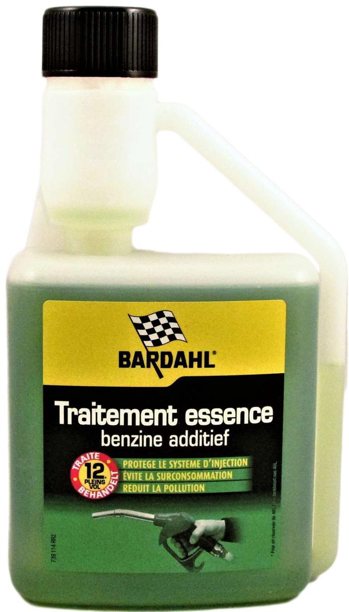 Добавка многофункциональная Bardahl Concentrated Fuel Preventive Treatment, в бензин, концентрат, 500 млS03301004Концентрированная присадка повседневного применения для бензина Bardahl Fuel Treatment разработана как профилактическое средство, которое можно использовать в течение всего срока эксплуатации автомобиля, с целью улучшения эксплуатационных характеристик бензинового топлива. Она обеспечивает дополнительную защиту деталей топливной системы засорения, износа и коррозии. Благодаря экономии топлива, использование присадки Bardahl Fuel Treatment позволяет окупить ее стоимость уже на 7-й заправке. Флакон присадки Bardahl Fuel Treatment 500 мл., рассчитан на обработку 500 литров бензина!