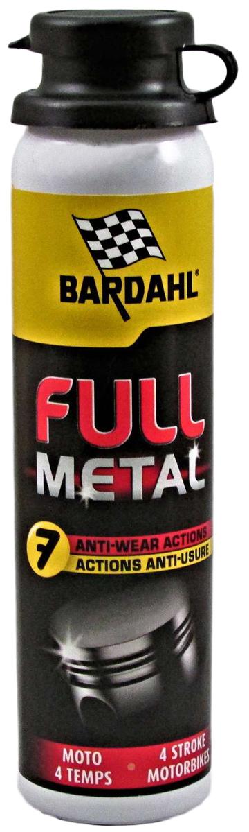 Присадка многофункциональная Bardahl Full Metall Moto, в моторное масло, 75 мл1205Присадка от компании Bardahl, которая заключает в себе все самые передовые достижения этого бренда. Подходит для всех типов мото двигателей. Снижает расход (угар) масла, снижает потери на трение в несколько раз, что напрямую влияет на динамические характеристики (разгон) и расход топлива. Смягчает все резиновые детали двигателя, сальники, маслосъемные колпачки и т. д. Главное создает особую, несмываемую пленку, которая защищает ваш двигатель в момент пуска, когда масло, после длительной стоянки отсутствует на стенках цилиндра. Пожалуй, это и делает присадку Full Metal такой особенной и не похожей ни на какие другие.