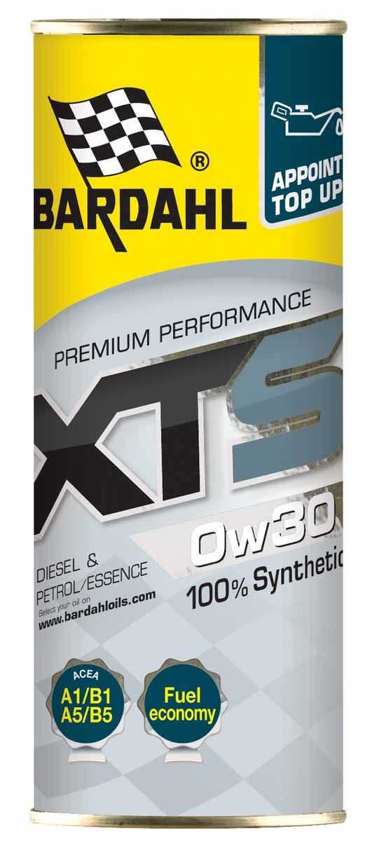 Масло моторное Bardahl XTS, синтетическое, 0W-30, 400 мл1942000Полностью синтетическое моторное масло. Уменьшает трение, устраняет осадок и уменьшает расход топлива. Обладает хорошей общей защитой. Bardahl XTS 5W20 подходит для бензиновых двигателей таких как EcoBoost Ford. ACEA A1/B1 API SN OEM Ford WSS-M2C948-B