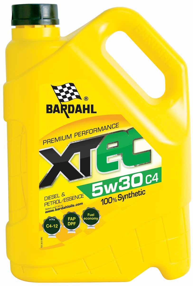 Масло моторное Bardahl XTEC, синтетическое, 5W-30, 5 л. 36153183665/0530-01-TFEСинтетическое моторное масло Mid SAPS, для экономии топлива, изготовлено из добавок последнего поколения и специально разработано для автомобилей оснащенных сажевым фильтром (DPF), соответствующих Евро IV и V. Bardahl XTEC 5W40 имеет высокое HTHS, гарантирующие отличную защиту. Может использоваться в бензиновых и дизельных двигателях с турбонаддувом или без, легковых автомобилей и транспортных средств малой грузоподъемности. ACEA C2/C3 (12) API SN/SM/CF OEM MB 229.31/229.1/229.3, BMW LL-04, VW 500.00/502.00/505.00/505.01Ford WSS-M2C-917A, RN0700/0710, GM DEXOS 2, Porsche A40