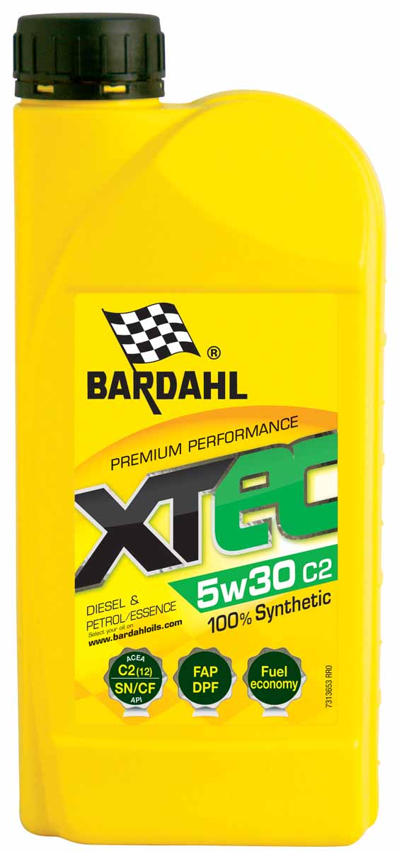 Масло моторное Bardahl XTEC, синтетическое, 5W-30, 1 л. 36531EniiRidemoto10w401Синтетическое Low SAPS масло с технологией экономии топлива специально разработан для Евро IV и V транспортных средств, оснащенных сажевым фильтром (DPF). Содержит присадки, подходящие для каталитических фильтров последнего поколения. Особенно рекомендуется для двигателей, требующих производительности масла RENAULT RN720. Это моторное масло подходит для бензиновых и дизельных двигателей, с турбонаддувом или без него, легковых автомобилей и микроавтобусов. ACEA C4 OEM MB 226.51, RN0720