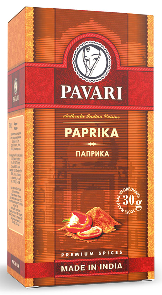 Pavari Paprika паприка, 30 г12210053Идеально подойдет для приготовления блюд из мяса и птицы. Также придаст особый вкус рыбным блюдам, морепродуктам и тушеным овощам.
