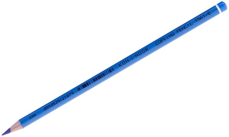 Koh-I-Noor Карандаш химический цвет синий156100E004KSШтрихи химического карандаша не отличаются от штрихов обычного карандаша до момента контакта с водой. Химический карандаш предназначен и для заполнения документов под копирку. Используется так же во многих отраслях промышленности.