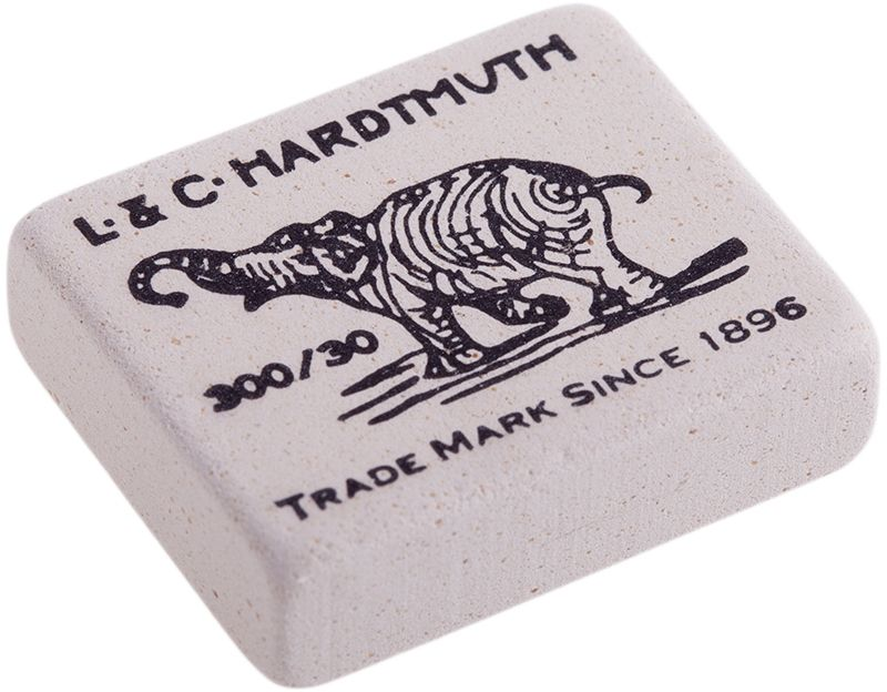Koh-I-Noor Ластик Elephant 300/30CS-WP2501-1X30Знаменитый ластик Elephant - со слоном. Мягкий ластик для чернографитных карандашей и чернил. Не повреждает бумагу, обеспечивает чистое и аккуратное стирание. Идеально стирает следы мягких, средних и твердых карандашей на любой поверхности. Изготовлен из натурального каучука.