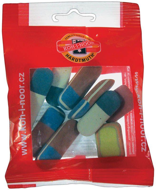 Koh-I-Noor Набор ластиков 9 шт72523WDНабор овальных ластиков разных размеров и цветов.