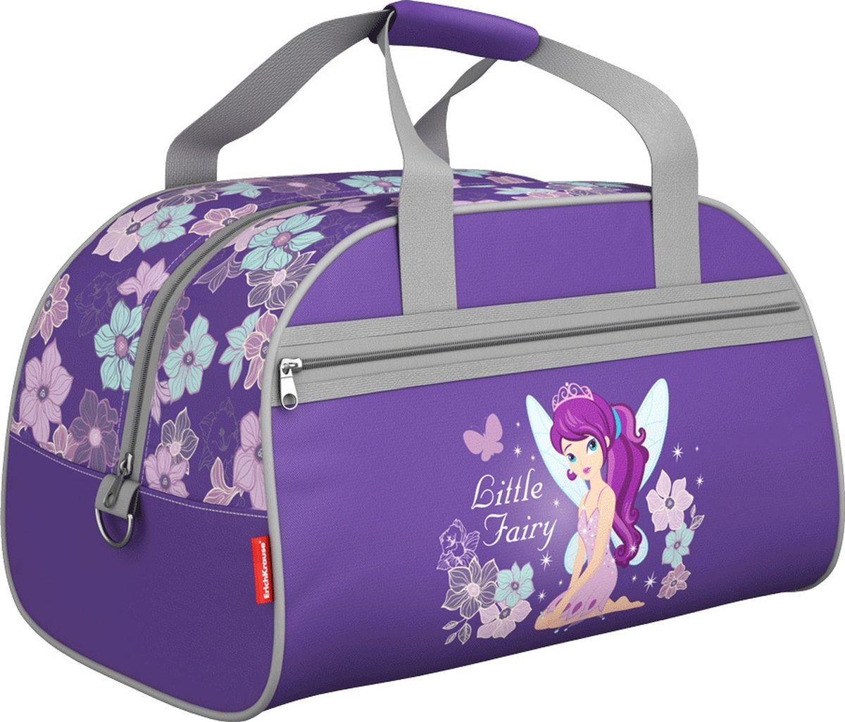 Erich Krause Сумка для сменной обуви Flower Fairy 4236672523WDДетская сумка предназначена для спортивных вещей. Размер 35 x 26 x 23 см. Выполнена из водонепроницаемого материала. Ручки на липучке, снаружи имеется карман на молнии.