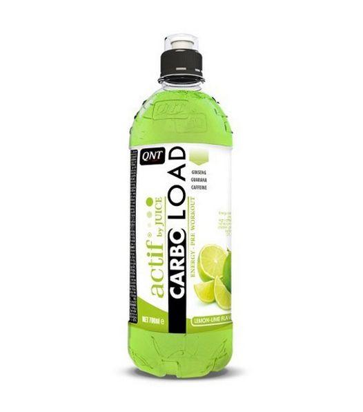 QNT Карбо Лоад, Лимон/лайм, 700 млDRIW.611.INЭтот напиток принимать до и во время тренировки) состоит из углеводов и чистых фруктовых соков. Чтобы поддерживать хорошую физическую работоспособность во время интенсивных тренировок кофеина, в напиток добавляют экстракт гуараны и экстракт женьшеня.Состав: вода, инвертированный сахарный сироп, регуляторы кислотности, ароматизатор, консерванты, концентрат лимонного сока, 0,5% кофеин, экстракт гуараны, экстракт женьшеня, подсластители, красители.