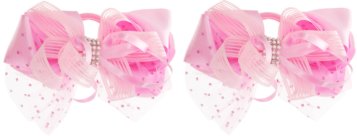 Babys Joy Бант для волос цвет розовый 2 шт MN 7Серьги с подвескамиБант для волос Babys Joy выполнен из декоративных лент разной ширины и сетки с блестками. Центр банта зафиксирован лентой со стразами.Бант на резинке позволит не только убрать непослушные волосы с лица, но и придать образу романтичности и очарования. Такой аксессуар для волос подчеркнет уникальность вашей маленькой модницы и станет прекрасным дополнением к ее неповторимому стилю. Рекомендовано для детей старше трех лет.