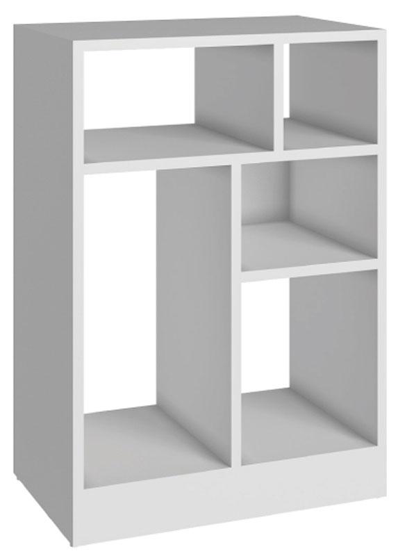 Стеллаж Manhattan Comfort, цвет: белый. 25AMC-06 whiteFS-80418Качественная и стильная мебель Manhattan Comfort для дома и дачи. Производство Бразилия. Страна бренда: Соединенные Штаты.