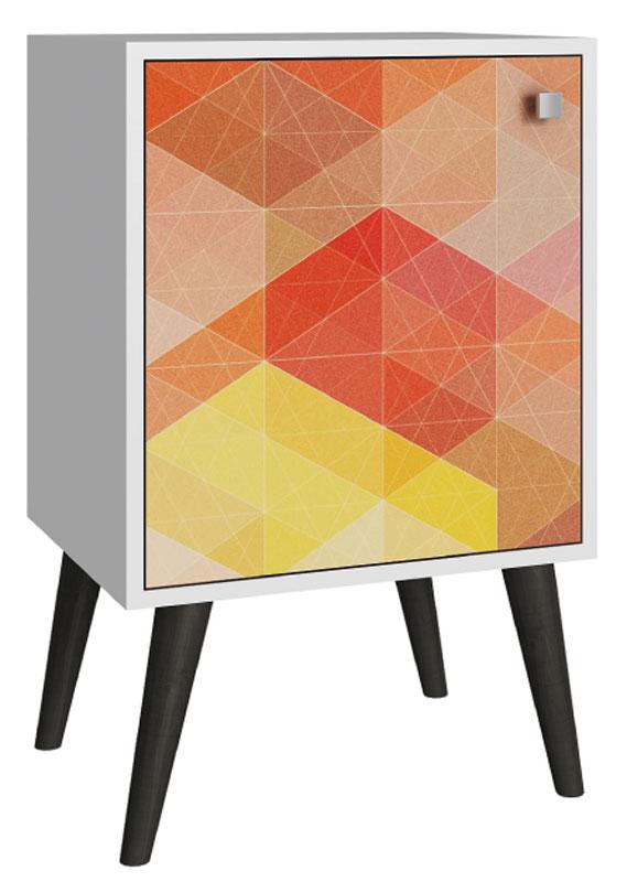 Тумба Manhattan Comfort, цвет: белый, серый117281Качественная и стильная мебель Manhattan Comfort для дома и дачи. Производство Бразилия. Страна бренда: Соединенные Штаты.