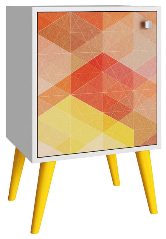 Тумба Manhattan Comfort, цвет: белый, желтый117281Качественная и стильная мебель Manhattan Comfort для дома и дачи. Производство Бразилия. Страна бренда: Соединенные Штаты.