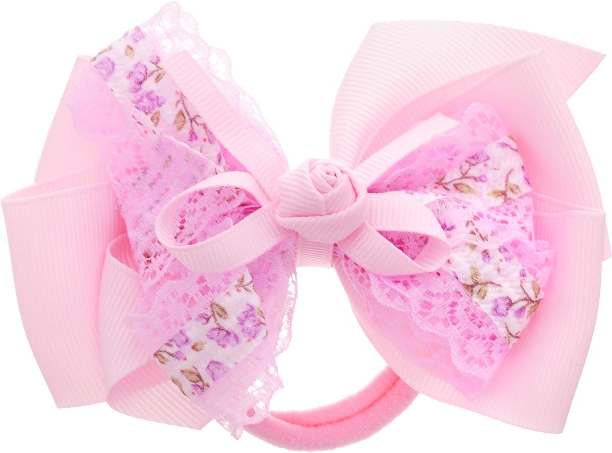 Babys Joy Бант для волос с кружевом на резинке цвет розовый MN 1Серьги с подвескамиБант для волос на резинке Babys Joy состоит из большого двойного банта из репсовой ленты. Бант декорирован кружевом и текстильным цветком в центре. Бант на резинке позволит не только убрать непослушные волосы с лица, но и придать образу романтичности и очарования.Такой аксессуар для волос подчеркнет уникальность вашей маленькой модницы и станет прекрасным дополнением к ее неповторимому стилю.