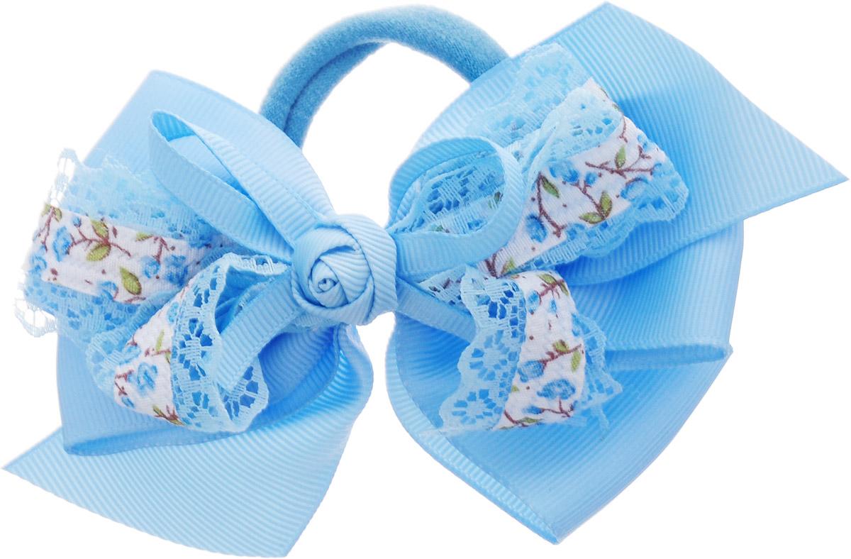 Babys Joy Бант для волос с кружевом на резинке цвет голубой MN 1MP59.4DБант для волос на резинке Babys Joy выполнен из репсовой ленты. Он декорирован кружевом и текстильным цветком в центре. Бант на резинке позволит не только убрать непослушные волосы с лица, но и придать образу романтичности и очарования.Такой аксессуар для волос подчеркнет уникальность вашей маленькой модницы и станет прекрасным дополнением к ее неповторимому стилю.