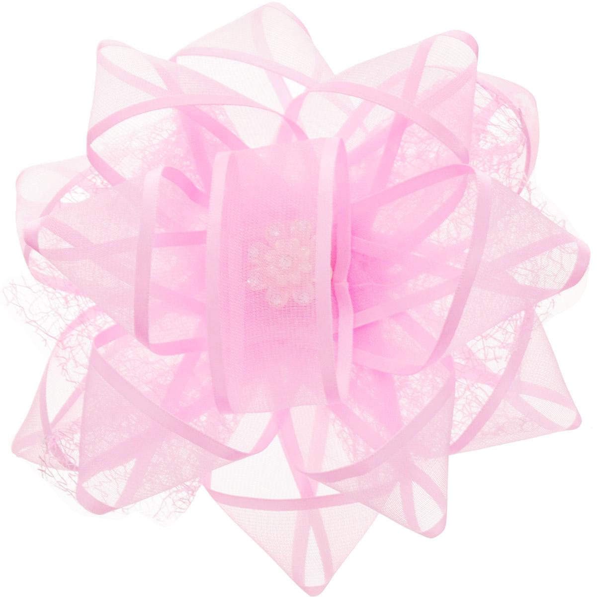Babys Joy Бант для волос цвет розовый MN 203CDB 452Бант для волос на резинке Babys Joy выполнен из капрона. Он декорирован пластиковой брошью со стразами.Бант на резинке позволит не только убрать непослушные волосы с лица, но и придать образу романтичности и очарования. Такая резинка для волос подчеркнет уникальность вашей маленькой модницы и станет прекрасным дополнением к ее неповторимому стилю.