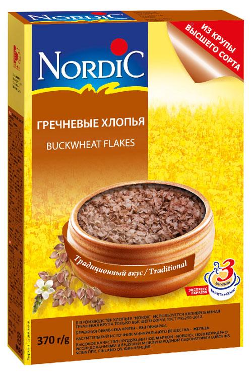 Nordic хлопья гречневые, 370 г0120710В гречихе содержится много фолиевой кислоты, повышающей выносливость и сопротивляемость организма многим болезням, она также помогает в лечении многих желудочных и кишечных болезней, полезна для печени и при сахарном диабете. Гречневая каша может служить частичной заменой мяса в питании, ее рекомендуют при диетическом питании, анемии и лейкемии. Также гречка помогает выведению из организма радионуклидов.