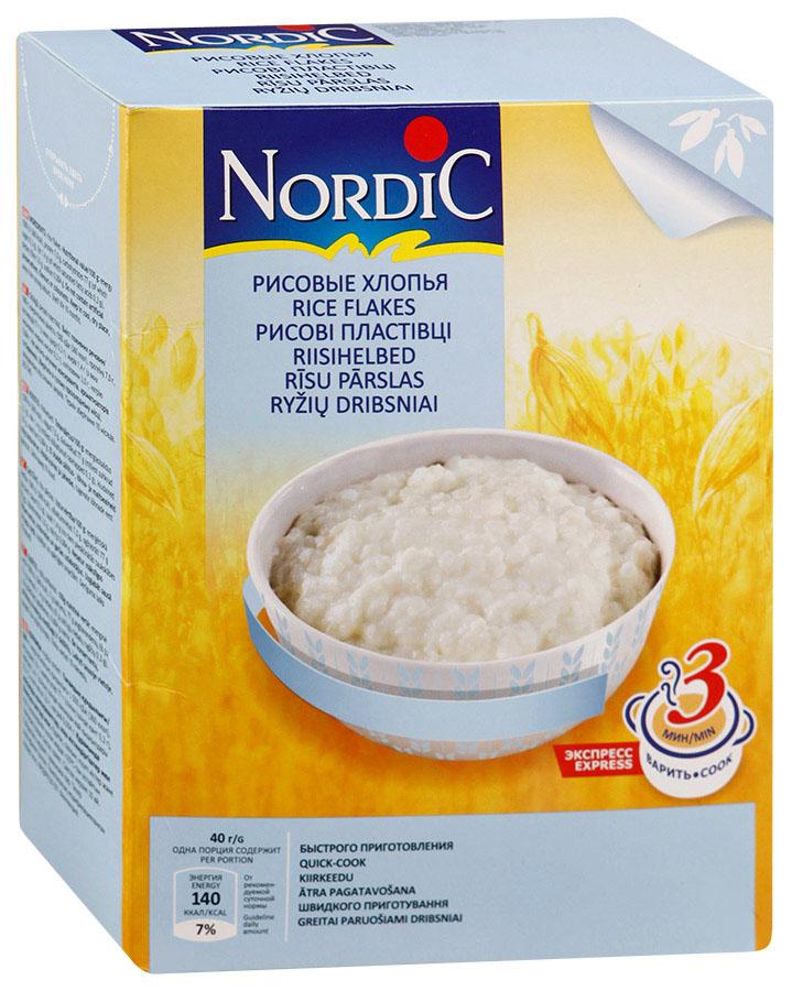 Nordic хлопья рисовые, 800 гбир060По своей питательности рис превосходит хлебные злаковые растения. Он отличается высоким содержанием углеводов и большой энергетической ценностью. В нем много фосфора, магния и витаминаPP, умеренное количество белка, калия и железа, а также пищевых волокон. Высокое содержание в рисе калия делает его полезным при склонности к отекам и сердечно–сосудистым заболеваниям; он также способствует нормализации водно-солевого обмена. Кроме того, он улучшает работу иммунной системы, что делает его особенно важным для маленьких детей.