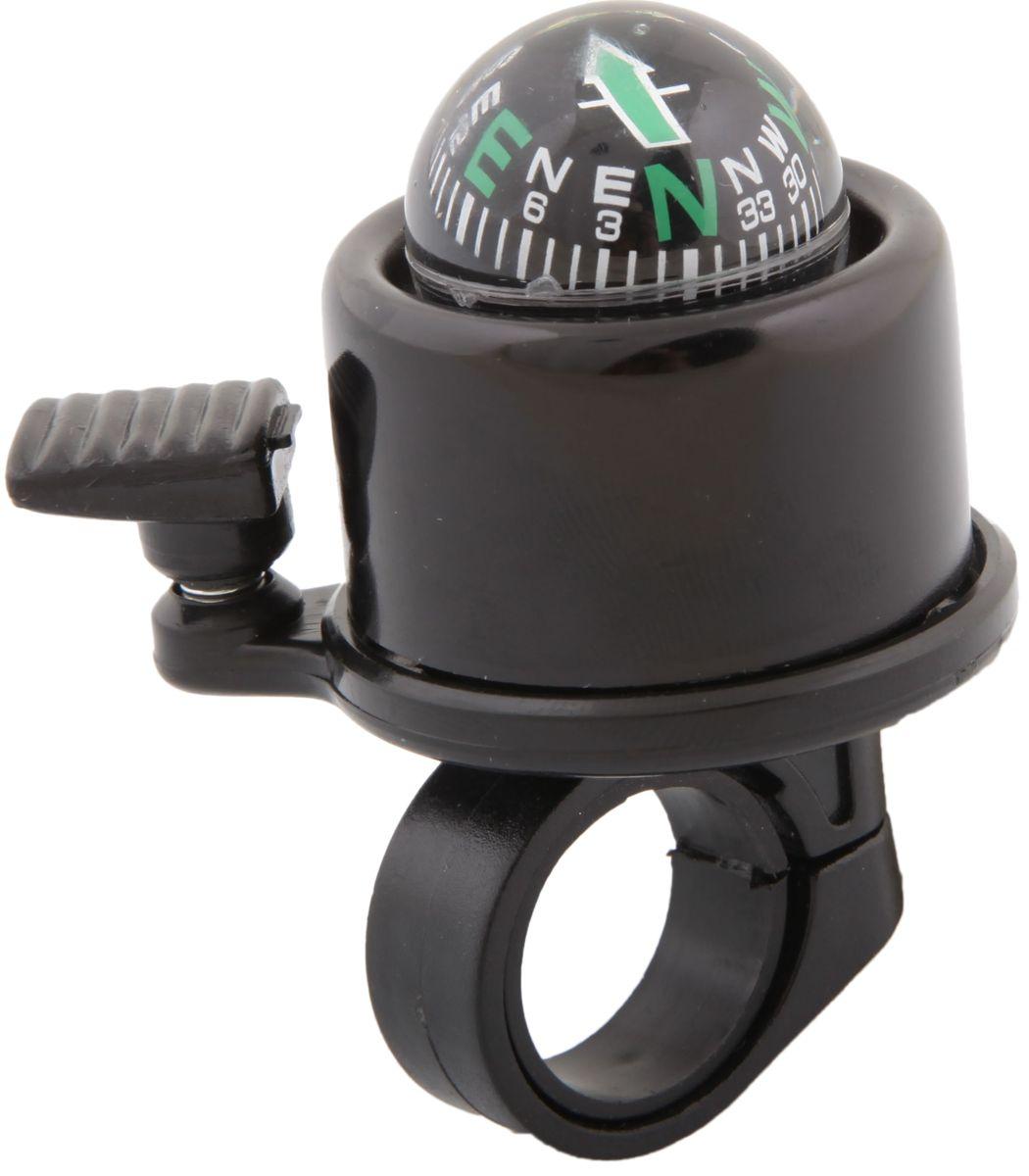 Звонок велосипедный STG 14A-05, с компасомХ47242Звонок STG 11A-06B, выполненный из высококачественных материалов, оснащен компасом. Изделие поможет предупредить пешеходов и других велосипедистов о вашем приближении, а также обеспечить безопасность вашего движения. Звонок предназначен для крепления на руль и подойдет не только для велосипедов, но и для самокатов.