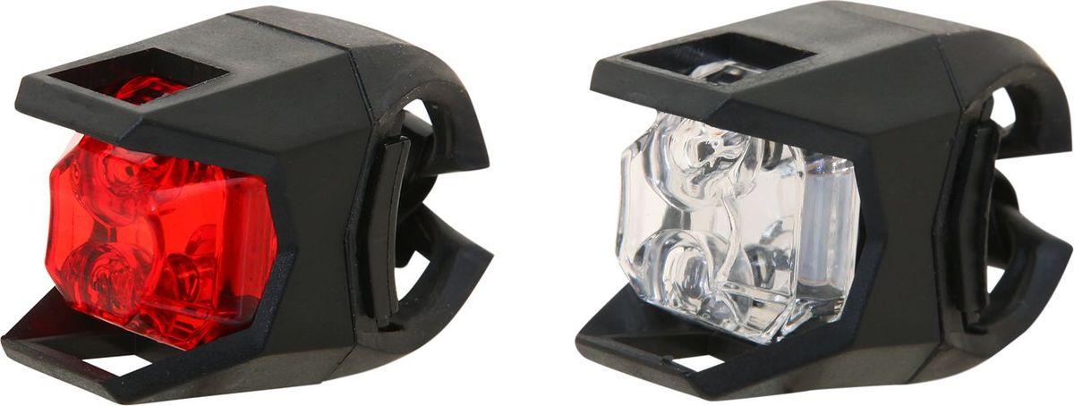 Набор велосипедных фонарей STG JY-3005, 1 белый и 1 красный диод, 3 функцииMW-1462-01-SR серебристыйКомплект из переднего и заднего фонаря станет отличным приобретением для велосипедиста, который катается не только днем, но и в вечернее время. 3 режима мигания.