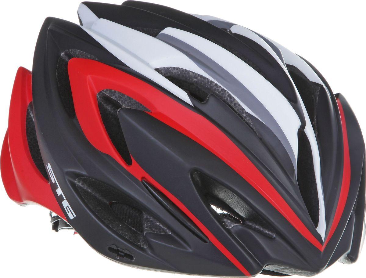 Шлем велосипедный STG MV17-1, с диодом. Размер LХ66764Велошлем STG MV17-1 - необходимый аксессуар каждого велосипедиста, предназначенный для защиты головы во время катания. Модель предназначена для райдеров, которые заботятся о своей безопасности в любое время суток. Велошлем оснащен светодиодом, который укажет ваше местоположение для других участников движения в условиях плохой видимости. Специальные отверстия обеспечивают оптимальную вентиляцию головы. Легкая и технологичная конструкция Out-mold гарантирует безопасность райдеров, катающихся, как в городе, так и по пересеченной местности. Велошлем STG MV17-1 с удобной подкладкой и застежкой, которая комфортно фиксирует шлем на голове велосипедиста - это отличный выбор для ежедневных активных поездок или безопасных прогулок по выходным.