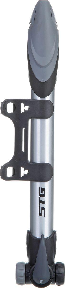 Насос ручной STG GP-09T. Х70238-5ГризлиНасос - это необходимый аксессуар любого велосипедиста. Компактный ручной насос с композитным корпусом из пластика и алюминия.