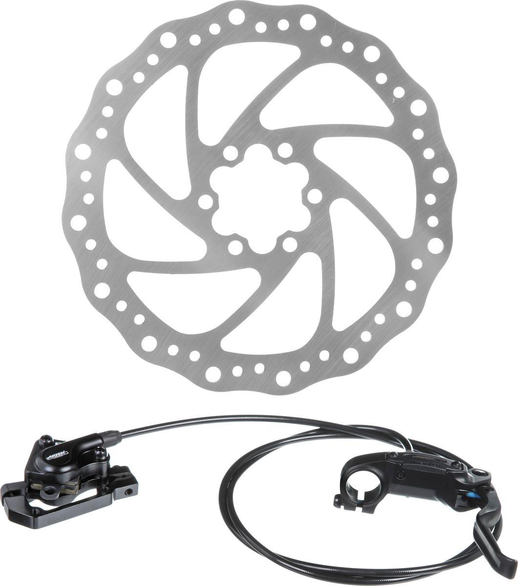 Тормоз гидравлический дисковый Artek ADC-SLP, задний 1350 ммХ75244Тормоз гидравлический дисковый Artek задний, длина 1350 мм. В комплекте ручка, калипер, суппорт с болтами.