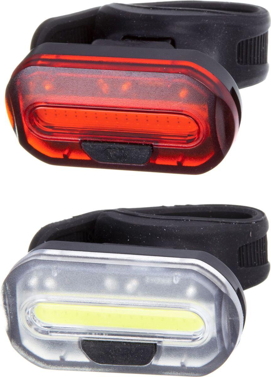 Комплект фонарей велосипедных STG JY-6068, задний, передний, цвет: черныйMW-1462-01-SR серебристыйПередний велосипедный передний фонарь позволит кататься на велосипеде в любое время суток, а задний фонарь позволит другим участникам движения увидеть вас при любой освещенности.