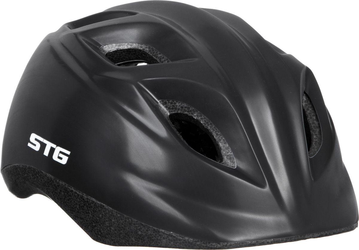 Шлем STG HB8-4. Размер S (48-52 см)Z90 blackДетский велошлем обеспечит безопасность ребенка во время катания. Шлем является обязательным атрибутом, особенно для маленьких любителей покататься на велосипеде, беговеле или самокате, которые только познают азы самостоятельного катания. Размер S (48-52 см)