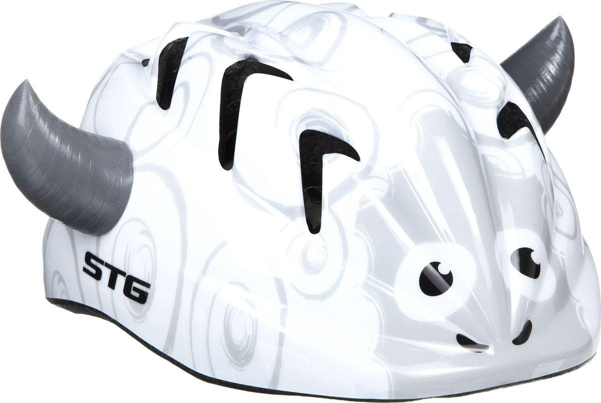 Шлем велосипедный STG SHEEP, детский. Размер ХSХ82387Детский велошлем STG SHEEP, выполненный из высококачественных материалов, обеспечит безопасность ребенка во время катания. Шлем является обязательным атрибутом, особенно для маленьких любителей покататься на велосипеде, беговеле или самокате, которые только познают азы самостоятельного катания. Размер шлема: обхват головы - XS (44-48 см).