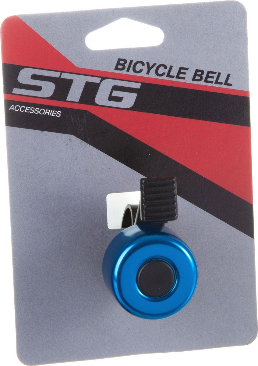 Звонок велосипедный STG 11А-09, цвет: синий, черныйХ82739Звонок STG 11А-09, выполненный из высококачественных материалов, предупредит пешеходов и других велосипедистов о вашем приближении, а также обеспечит безопасность вашего движения. Звонок предназначен для крепления на руль и подойдет не только для велосипедов, но и для самокатов.
