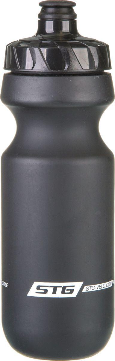 Фляга велосипедная STG CSB-542M, цвет: черный, 600 мл. Х83231MW-1462-01-SR серебристыйВелофляга STG CSB-542M из высококачественного пищевого пластика подойдет для всех велосипедистов, любителей или профессионалов. Эргономичная форма велобутылки позволяет легко достать и быстро поместить ее во флягодержатель. Оптимальный объем фляги 600 мл обеспечивает необходимое количество жидкости для подпитки велоспортсмена. Велофляга имеет удобный клапан с блокировкой, который препятствует проникновению воды. Широкое горлышко позволяет перелить воду из небольших емкостей без использования воронки.