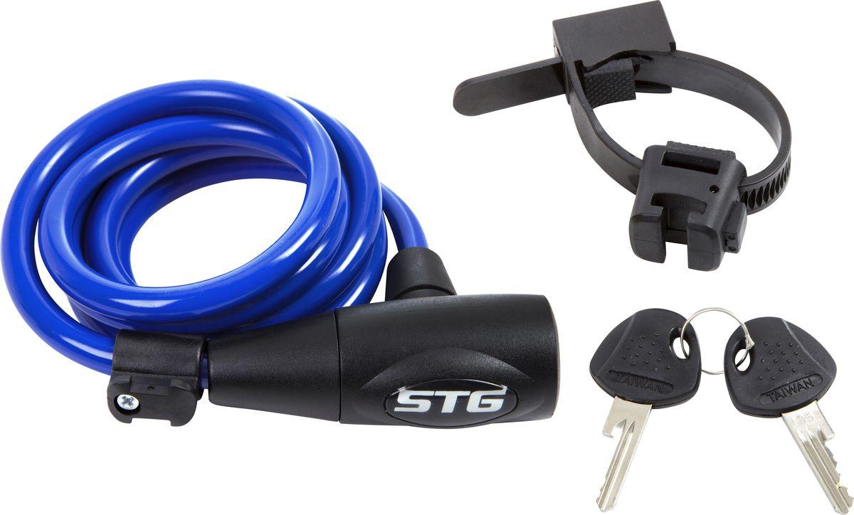 Замок велосипедный STG CL-428, с ключом, цвет: светло-синий, 10 мм х 150 смХ83377Велозамок STG CL-428 с ключом поможет обезопасить велосипед от угона. Выполнен из стали, пластика и резины.Будучи легким, гибким и надежным, он станет замечательным решением для обеспечения безопасности велосипеда. Диаметр троса: 10 мм.Длина: 150 см.