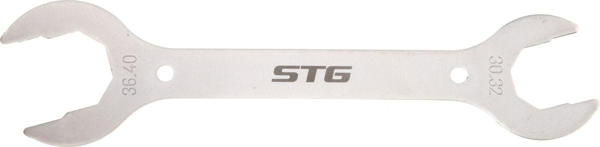 Ключ для рулевой колонки STG YC-153, 30/32/36/40 ммMW-1462-01-SR серебристыйКлюч для рулевой колонки STG модель YC-153, 30х32х36х40 мм. Подойдет как для индивидуального использования, так и для велоремонтных сервисов.