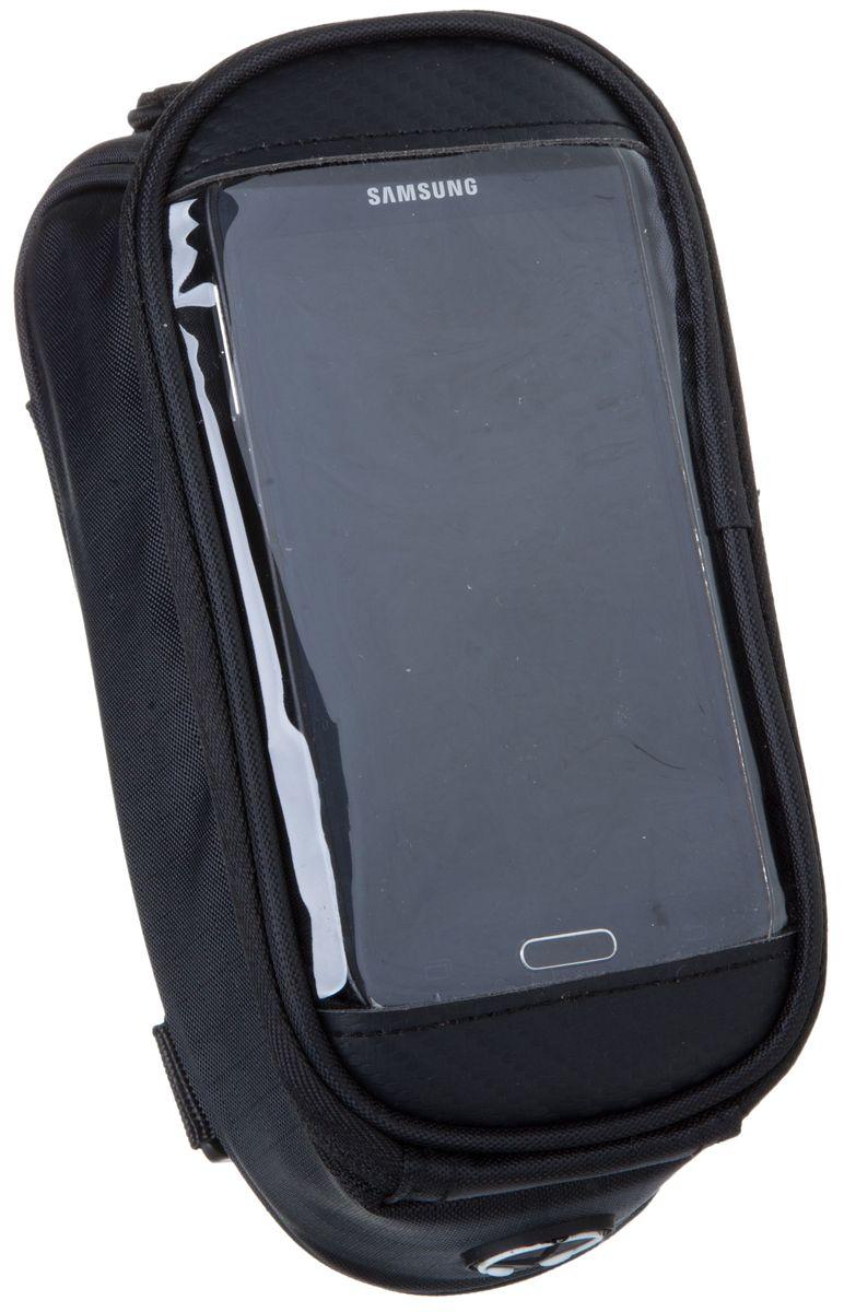 Велосумка на раму STG 12496M-CA5, с отделением под телефон, с покрытием для смартфонов, цвет: черныйZ90 blackСумка для крепления на раму - это удобный аксессуар, имеющий помимо основного отделения отсек для смартфона, который вы сможете использовать в качестве навигатора во время велопрогулок.